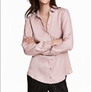 H&M Satin Button Up Shirt